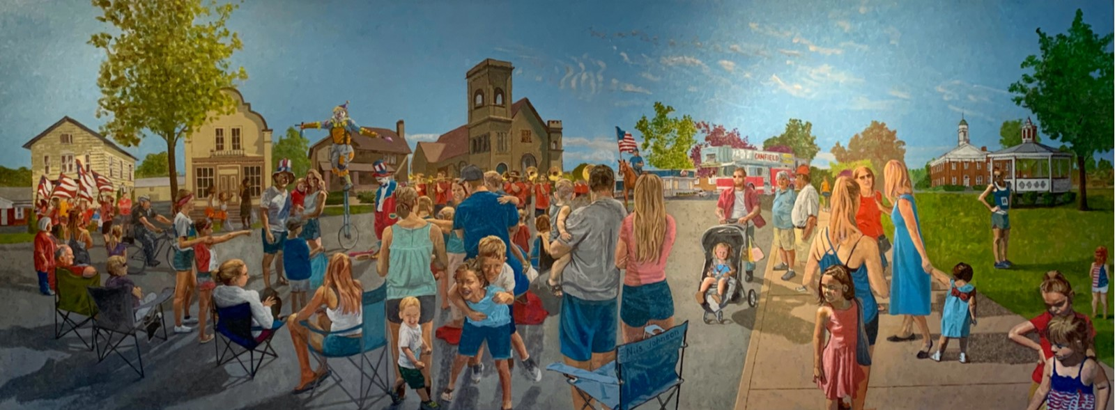 Nils Johnson Painting of Canfield 4th of July